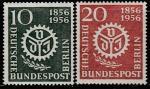 Германия (Западный Берлин) 1956 год. 100 лет Ассоциации немецких инженеров, 2 марки