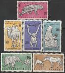 ЧССР 1962 год. Животные, 6 марок (с наклейкой)