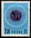Польша 1965 год. 100 лет Международному Союзу электросвязи (UIT). Эмблема, 1 марка
