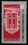 Польша 1969 год. IX Съезд Демократической партии Польши. Символика, 1 марка