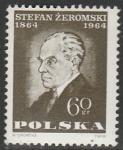 Польша 1964 год. Писатель Стефан Зеромский, картина; 1 марка