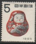Япония 1954 год. Новый Год. Народная игрушка, 1 марка