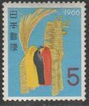 Япония 1965 год. Новый Год. Соломенная лошадь, 1 марка