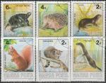 Венгрия 1986 год. Фауна, 6 гашёных марок