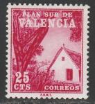 Испания (Валенсия) 1964 год. Обязательная подоходная марка для Валенсии. Хижина, 1 марка