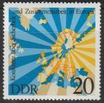 ГДР 1975 год. Конференция по безопасности и сотрудничеству в Европе, Хельсинки; 1 марка