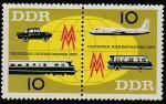 ГДР 1963 год. Лейпцигская осенняя ярмарка. Транспорт, пара марок