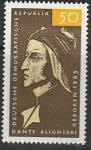 ГДР 1965 год. Писатель Данте Алигьери, 1 марка