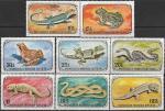 Монголия 1972 год. Земноводные и рептилии, 8 марок