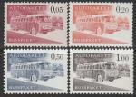 Финляндия 1963 год. Автобус, 4 марки