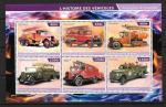 История транспортных средств. Пожарные машины. Джибути 2015 год. Малый лист