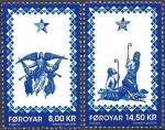 Фареские острова 2014 г. Рождество. 2 марки