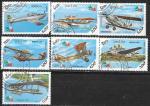 Лаос 1985 год. Самолеты. 7 гашеных марок