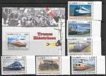 Куба 2007 г. Электропоезда. 6 марок + блок