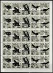 СССР 1976 год. Стандарт. Надпечатка: Почта Адыгеи. WWF: Птицы, ном. 100-1000, лист