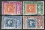 Маврикий 1948 год. 100 лет местным маркам, 4 марки.