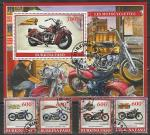 Буркина Фасо 2019 год. Мотоциклы, 4 марки + блок (гашёные)