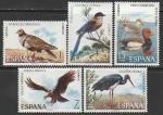 Испания 1973 год. Иберийская дикая природа: птицы, 5 марок