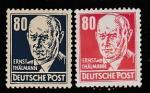 ГДР 1952 год. Политик Эрнст Тельман, 2 марки (наклейка)