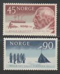 Норвегия 1961 год. 50 лет экспедиции Р. Амундсена на Южный Полюс, 2 марки