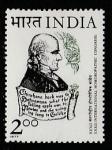 Индия 1977 год. Врач Самуэль Ганеман, 1 марка