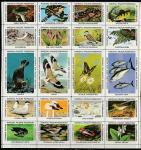 США 1982 год. Национальная федерация защиты дикой природы (NWF), 20 марок (непочтовые)