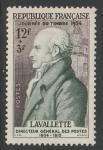 Франция 1954 год. День почтовой марки. Министр почт Антуан Мари Шаман Лавалетт, 1 марка.