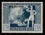 Германия (Рейх) 1942 год. Подписание почтовой конвенции в Вене, 1 марка с надпечаткой (наклейка)