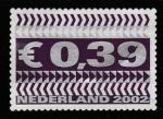 Нидерланды 2002 год. Стандартный выпуск, ном. 0,39 евро, 1 марка (1 из 2-х)
