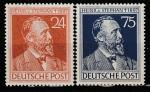 Германия 1947 год. 50 лет со дня смерти директора почты Северогерманского Союза Генриха фон Стефана. 2 марки