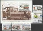 Румыния 2009 год. История горэлектротранспорта, 5 марок + блок (297.6373)
