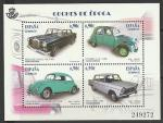 Испания 2013 год. Ретро - автомобили, блок (145.4773)