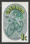 Гренада 1976 год. Олимпийские игры в Монреале. Велоспорт, 1 марка (1 из серии) (106.766)