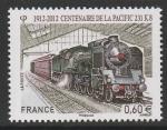 Франция 2012 год. Локомотив Пасифик 231 КБ 1912 года, 1 марка (379.5341)