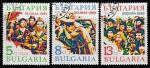 Болгария 1989 год. 45 лет Освобождения от фашизма, 3 марки (гашёные)