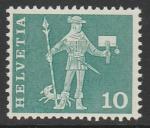 Швейцария 1960 год. Почтальон, 1 марка из серии