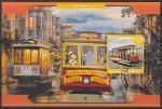 Мадагаскар 2020 год. Трамвай в Сан-Франциско, блок (гашёный)