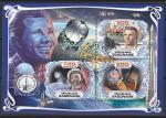 """Габон 2019 год. Космический корабль """"Восток-1"""". Космонавт Ю.А. Гагарин, малый лист (гашёный)"""