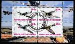 """Бурунди 2010 год. Британский истребитель II Мировой войны """"Спитфайр"""", малый лист (гашёный)"""