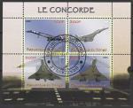 """Конго 2009 год. Самолёт """"Конкорд"""", малый лист.(I) (гашёный)"""
