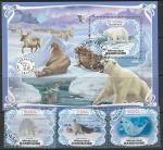Габон 2019 год. Фауна Арктики, 3 марки + блок (гашёные)