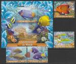 Мали 2020 год. Тропические рыбки, 4 марки + блок