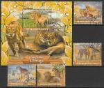 Мали 2020 год. Львы, 4 марки + блок (гашёные)
