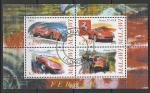 """Малави 2010 год. Автомобили """"Феррари"""" (II), малый лист (гашёный)"""