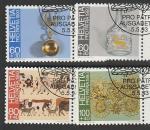 Швейцария 1993 год. Народное искусство, 4 марки (гашёные)