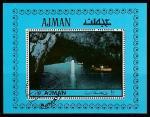 Эмират Аджман 1972 год. Достопримечательности Италии, блок (гашёный)