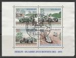 ФРГ (Берлин) 1971 год. Гоночные автомобили 1921 года, блок (спецгашение)