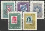 Польша 1960 год. 100 лет польской почтовой марке, 5 марок (наклейка)