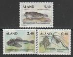 Аланды 1997 год. Фауна. Реликтовые формы ледникового периода, 3 марки (014.124)