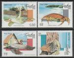 Куба 1994 год. Туризм. Фауна острова Ларго-дель-Сур, 4 марки (186.3776)